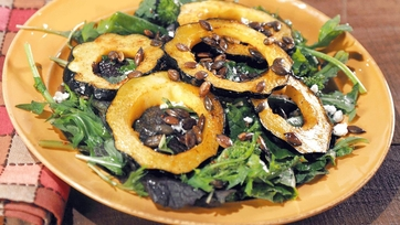 Acorn Squash with Baby Bitter Greens Recipe by Valerie Bertinelli Part 1
