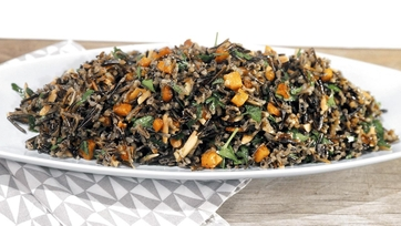 Wild Rice with Squash, Mint and Almonds Recipe by Michael Symon: Part 1