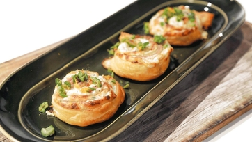 Ham and Cheese Puff Pastry Pinwheels Recipe by Carla Hall: Part 2