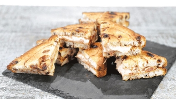 Apple Butter Bacon Toasts Recipe by Carla Hall