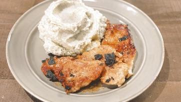 Turkey Scallopini with Apple Cider Gravy & Celery Root Mash Recipe by Mario Batali: Part 1