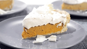 Sweet Potato Pie with White Chocolate Mousse Recipe by Carla Hall: Part 2