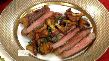 Dish of the Day-Mario\'s Shell Steak with Mushrooms
