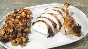 Lemon Sage Turkey with Savory Bread Stuffing Recipe by Michael Symon