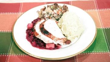 Pan Seared Turkey with Cranberry Apple Chutney Recipe by Carla Hall & Daphne Oz: Part 1