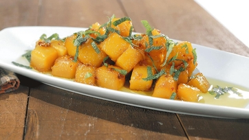 Sweet and Spicy Butternut Squash with Salsa Verde Recipe by Mario Batali: Part 1