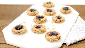 PB & Jam Thumbprint Cookies Recipe by Carla Hall