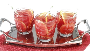 Holiday Pomegranate Punch Cocktail by Clinton Kelly