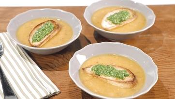 White Bean Sweet Potato Soup Recipe by Mario Batali