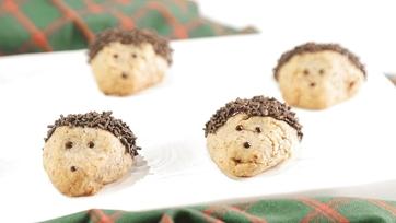 Hedge Hog Pecan Shortbread Cookies Recipe by Carla Hall