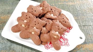 Teddy Bear Chocolate Shortbread Cookies Recipe by Carla Hall