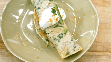 Spicy Sausage Corn Chip Crepes Recipe by Michael Symon: Part 2