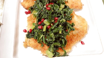 Chicken Cutlets with Swiss Chard and Pomegranate Recipe by Michael Symon: Part 2