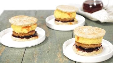 Pancake Breakfast Sandwiches Recipe by Carla Hall