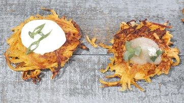 Sweet Potato Latkes Recipe by Mario Batali: Part 2