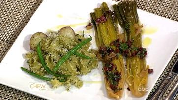 Bourdain\'s Pesto Pasta and Braised Leeks - Part 1