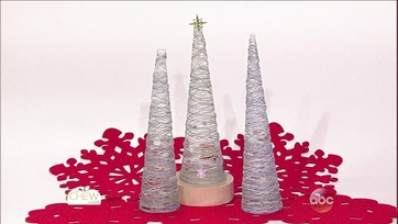 Chic String Christmas Trees Craft