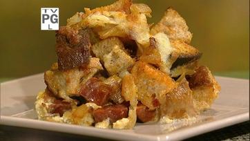 Dish of the Day: Chorizo and Manchego Strata