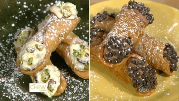 Cherry & Pistachio and Hazelnut & Coconut Cannoli
