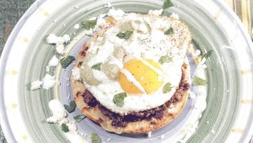 Huevos Rancheros with Lime Habanero Crema Recipe: Part 1