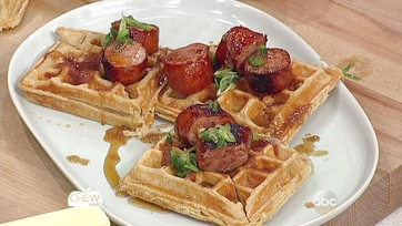 Savory Waffles with Smoked Kielbasa and Honey Butter Recipe: Part 1
