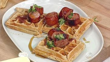 Savory Waffles with Smoked Kielbasa and Honey Butter Recipe: Part 2