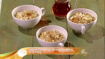 Apple Cinnamon Bread Pudding in a Mug Recipe
