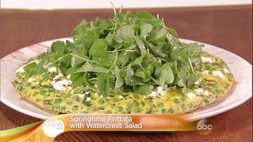 Springtime Frittata with Watercress Salad Recipe by Clinton Kelly