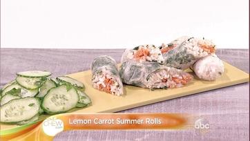 Lemon Carrot Summer Rolls Recipe: Part 1