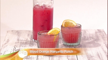 Blood Orange Margarita Punch Cocktail