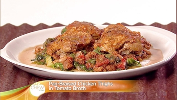 Pan Braised Chicken Thighs in Tomato Broth: Part 1