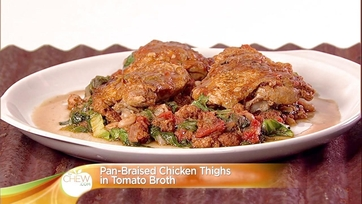 Pan Braised Chicken Thighs in Tomato Broth: Part 2