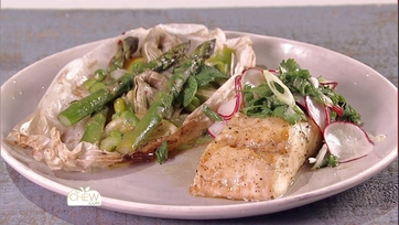 Wood Planked Halibut with Herb Salad: Part 1