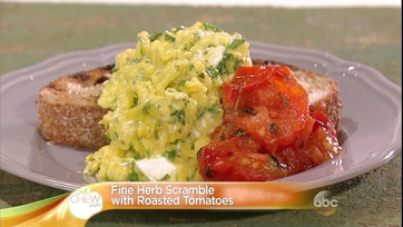 Fine Herb Scramble with Roasted Tomatoes