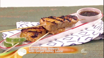 Salmon Satay Skewers with Ginger Honey Sauce: Part 1