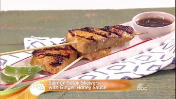 Salmon Satay Skewers with Ginger Honey Sauce: Part 2