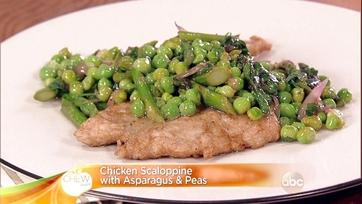 Chicken Scaloppine with Asparagus & Peas: Part 1