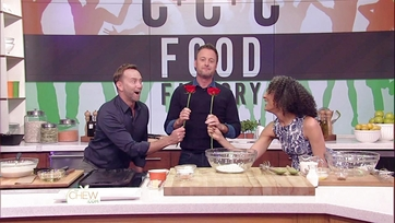 Chris Harrison Cooks Cinnamon Chocolate Chip Pancakes: Part 1