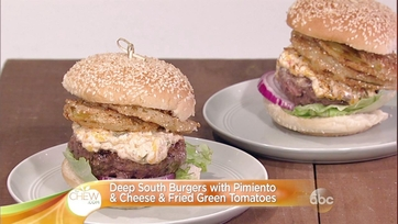 Deep South Burgers with Pimiento & Cheese & Fried Green Tomatoes: Part 1