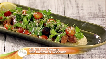 Grilled Lamb Sausage with Hummus and Tabbouleh: Part 2