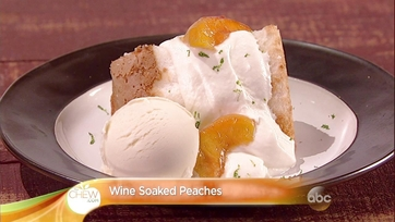 Wine Soaked Peaches