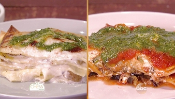 White Lasagna with Potatoes & Pesto | Eggplant & Zucchini Lasagna: Part 1