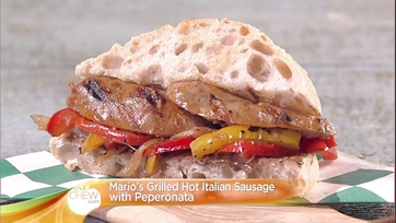 Grilled Hot Italian Sausage with Peperonata | Bratwurst and Sauerkraut on a Hard Roll: Part 2