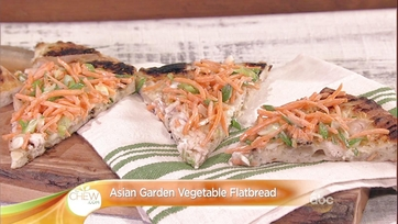 Asian Garden Vegetable Flatbread