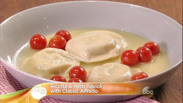 Ricotta and Herb Ravioli with Classic Alfredo: Part 1
