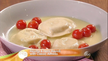 Ricotta and Herb Ravioli with Classic Alfredo: Part 2