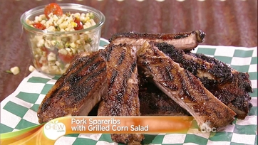 Pork Spareribs with Grilled Corn Salad: Part 2