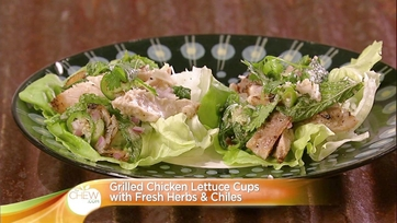 Grilled Chicken Lettuce Cups with Fresh Herbs & Chiles: Part 1