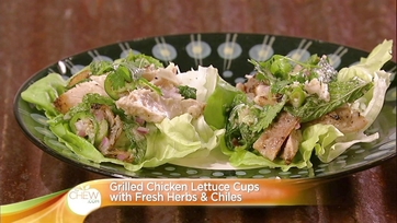 Grilled Chicken Lettuce Cups with Fresh Herbs & Chiles: Part 2