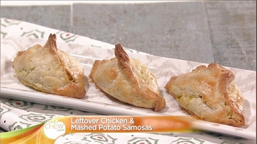 Leftover Chicken and Mashed Potato Samosas